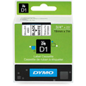 "DYMO® D1 Standard Labels 3/4"" Black on White"