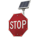 "Tapco® 2180-00209 BlinkerStop® Flashing LED STOP Sign R1-1, 30""W, Solar"