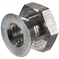 1/4-20 Tamper-Proof Security Breakaway Nut - Non-Removable - Aluminum - Made In USA - Pkg of 100
