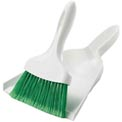 Libman Commercial Dust Pan With Whisk Broom - White - Pkg Qty 6