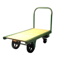 "Fairbanks Steel Bound Platform Truck MQ-3672-RT-407-36 - 36"" x 72"" - 6"" & 12"" Rubber Wheels"