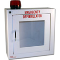 First Voice™ Compact Defibrillator/AED Surface-Mounted Wall Cabinet with Alarm & Strobe