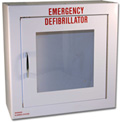 First Voice™ Compact Defibrillator/AED Surface-Mounted Wall Cabinet without Alarm