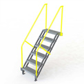 "U-Design Max-Access Aluminum Work Platforms - 6 Step 60""H 50 Deg. Stair Unit - UAP0650"
