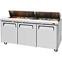 "Turbo Air MST-72 M3 Series - Sandwich/Salad Table 72-2/3""W - 3 Door"
