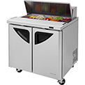"Super Deluxe Series - Sandwich/Salad Table 36-1/3""W - 2 Door"