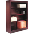 "Alera ALEBCS44836MY Square Corner Wood Veneer Bookcase, 4-Shelf, 35 5/8""Wx11-3/4""Dx48""H, Mahogany"