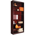 "Alera ALEBCS78436MY Square Corner Wood Veneer Bookcase, 7-Shelf, 35 5/8""Wx11-3/4""Dx84""H, Mahogany"