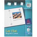 """Avery® Polypropylene Report Cover, Flex Fastener, Letter, 1/2"""" Capacity, Clear/Blue"""