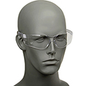 Crews BK110 BearKat Safety Glasses, Wraparound, Black Frame/Clear Lens