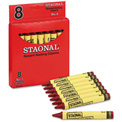 Crayola 5200023038 Staonal Marking Crayons, Red, 8/Box