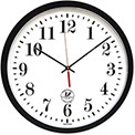 "Chicago Lighthouse Atomic Slimline Contemporary Clock, 16-1/2"", Black"