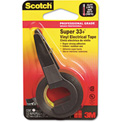 "Scotch® Super 33+ Vinyl Electrical Tape w/Dispenser, 1/2"" x 200"" Roll, Black"