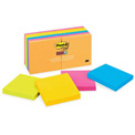 Post-it® Super Sticky Ultra Notes, 3 x 3, Assorted Colors, 12 Pads/Pack
