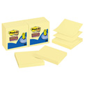 Pop-Up Notes, Super Sticky, 3 x 3, Canary Yellow, 12/PK