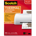 Scotch® Letter Size Thermal Laminating Pouches, 5 mil, 100/Pack