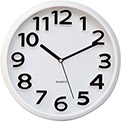 Universal® Round Wall Clock, White, 13""
