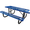 6' Rectangular Picnic Table, Diamond Pattern, Blue