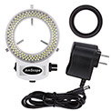 AmScope LED-144W-ZK White Adjustable 144-LED Ring Light Illuminator For Stereo Microscope