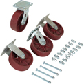 "Vestil 6"" x 2"" Ductile Steel Caster Kit D-CK4-SC6-2HD for Vestil Hopper - 8000 Lb. Cap."