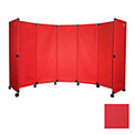 Portable Mobile Room Divider, MP10S (4') Red