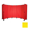 Portable Mobile Room Divider, MP10S (4') Yellow