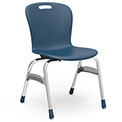 "Virco® Sg418 The Sage™ 4 Leg Stacking Chair 18"", Navy With Chrome - Pkg Qty 4"