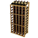 Vintner Commercial 5 Column Merchandiser W/Individual Bottle Rails - Unstained Pine