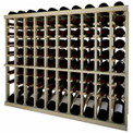 Individual Bottle Wine Rack - 10 Column W/Lower Display, 3 ft high - Light, Pine