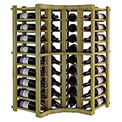 Individual Bottle Wine Rack - Curved Corner, 3 ft high - Black, Pine