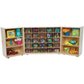 25 Tray Tri-Fold Storage with Clear Trays