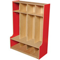 Strawberry Red Four Section Seat Locker