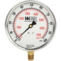 "4"" dial , liquid filled, 1/4"" bottom, 0-100PSI"