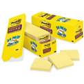Canary Yellow Super Sticky Notes, 3 x 3 Cabinet Pack, 24 90-Sheet Pads/Pack