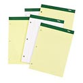 Double Docket® Writing Pad, College Ruled, Letter Size, Canary, 100 Sheets