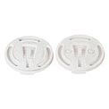 SOLO® Lift & Lock Tab Travel Lid, For Slox8j, White, 2,000/Carton