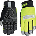 High Visibility Performance Gloves - Safety Lime - Winter - Large