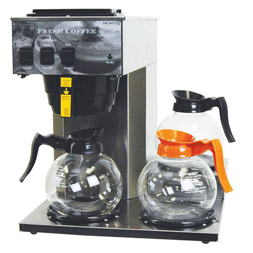 """Newco 101879 AK-3 Coffee Brewer, Pour-Over, 3 Warmers. 120V, 15-1/2""""W x 16-3/8""""D... by"""