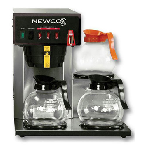 """Newco 101891 FC-3 Coffee Brewer, Plumbed, 3 Warmers, 120V, 15-5/8""""W x 16-3/8""""D x... by"""