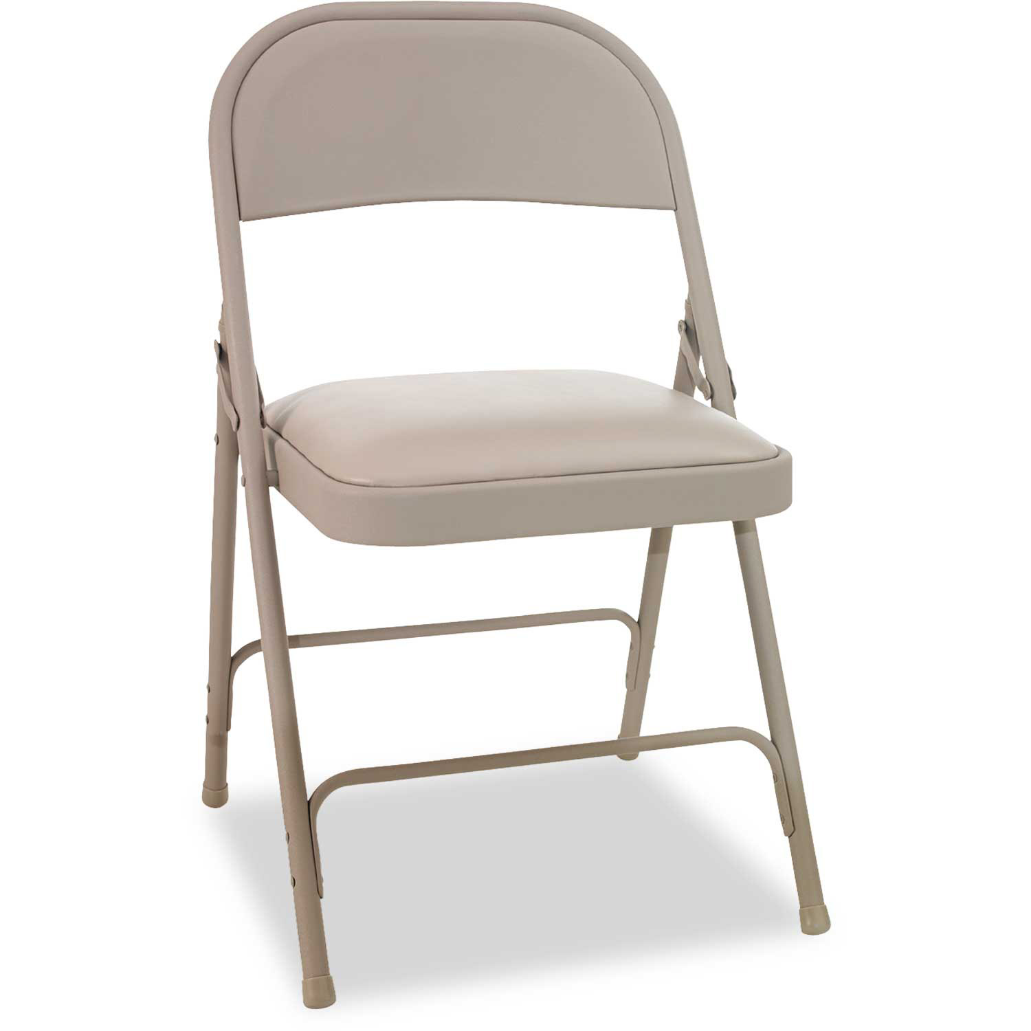 Alera Steel Folding Chair With Padded Seat Tan 4/Carton by