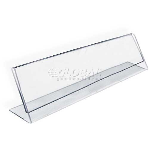 """Azar Displays 112702 Horizontal Nameplate Acrylic Sign Holder, 6"""" x 2"""" , 10-Pack by"""