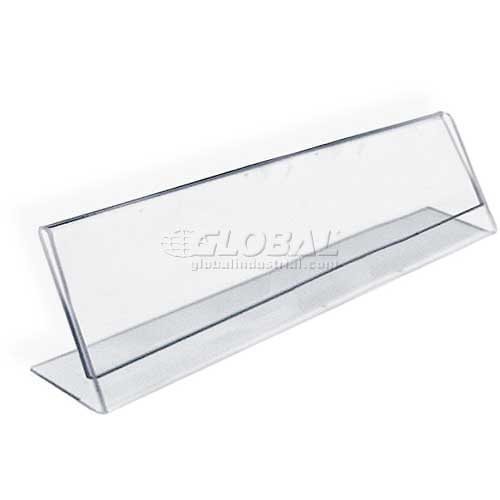 """Azar Displays 112703 Horizontal Nameplate Acrylic Sign Holder, 8"""" x 2"""" , 10-Pack by"""