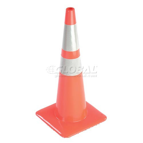 "Click here to buy 28"" Traffic Cone, Reflective, Orange, 5 lbs, 2825-5MM."