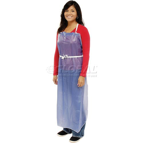 """6 Mil Sewn Edge Vinyl Apron Blue, 35"""" x 45"""" Package Count 12 by"""