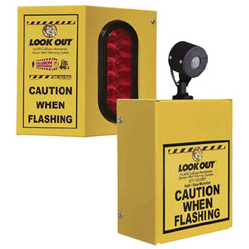 Collision Awareness Overhead Forklift Door Monitor, 2 Boxes, 1 Sensor, 1 Light, 15' Cord by