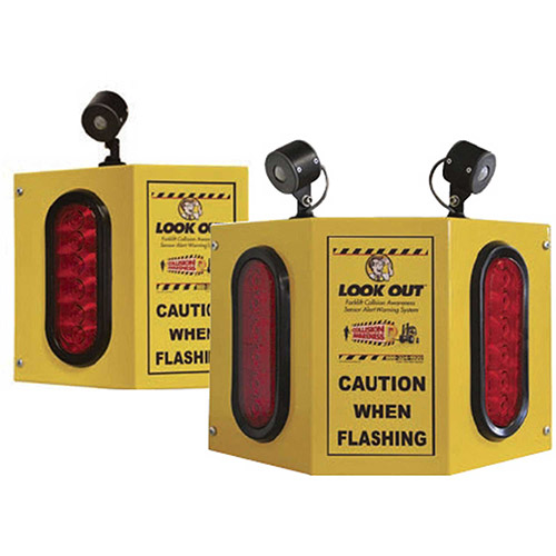 Collision Awareness Overhead Forklift Door Monitor, 2 Boxes, 3 Sensors, 3 Lights, 15' Cord by