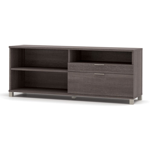 "Bestar Credenza w/ Drawers 71"" Bark Grey Pro-Linea Series by"