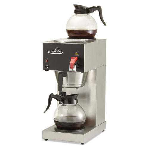 Click here to buy Coffee Pro High-Capacity Institutional Coffee Maker, Stainless Steel.