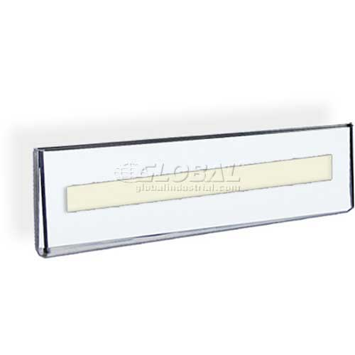 """Azar Displays 122018 Wall Mount Nameplate Sign Holder W/ Adhesive Tape, 8.5"""" x 2.5"""" , 10-Pack by"""