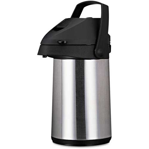 Coffee Pro CPAP22 Brew/Serve Insulated Airpot, Handle, 2.2 L, Stainless Steel by